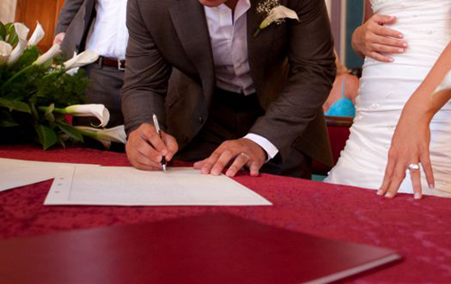 paperwork orvieto wedding